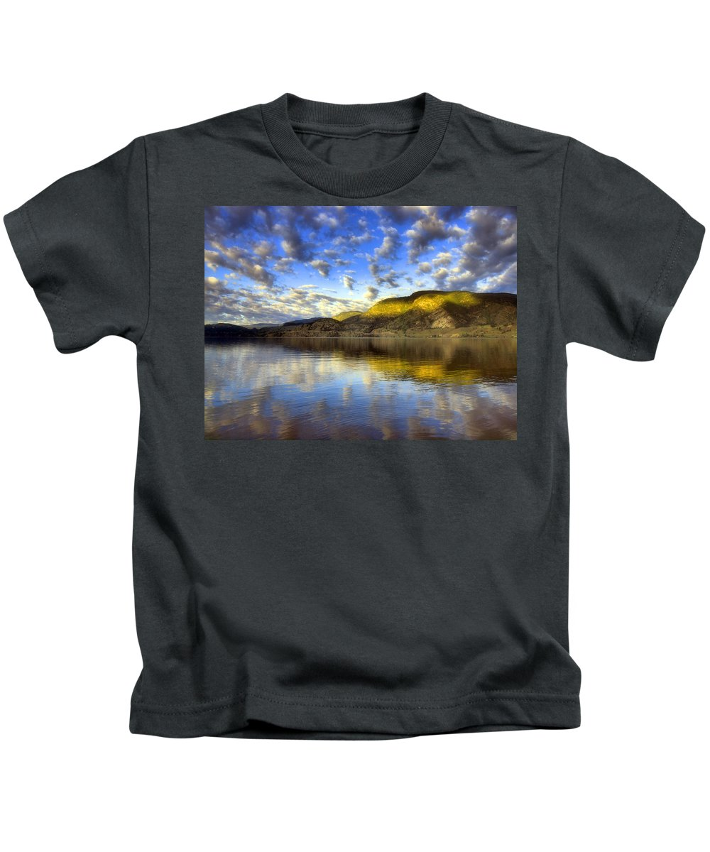 Light Kids T-Shirt featuring the photograph The Light At Skaha Lake by Tara Turner