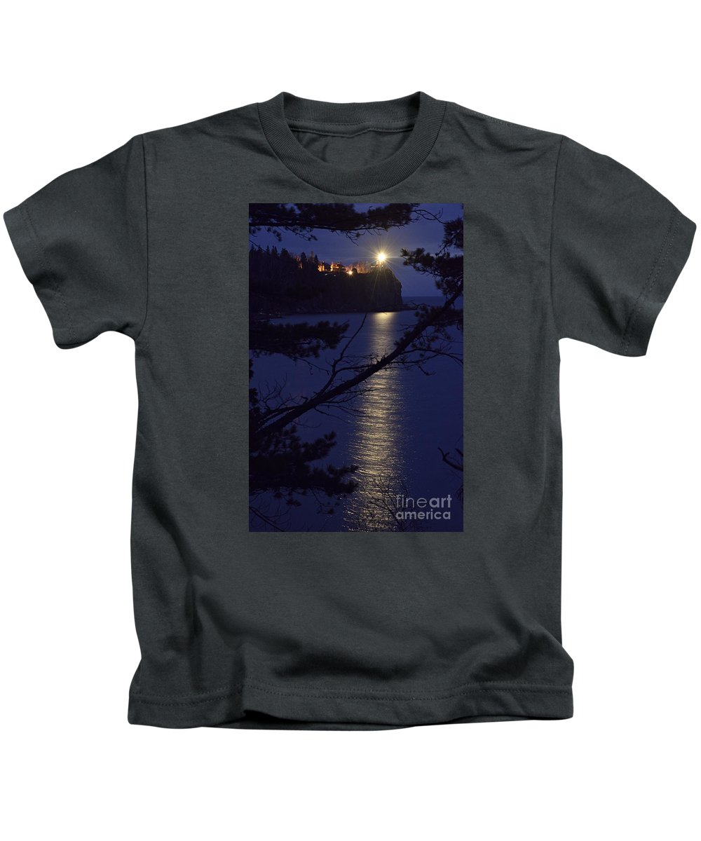 Photography Kids T-Shirt featuring the photograph The Light Shines Through by Larry Ricker