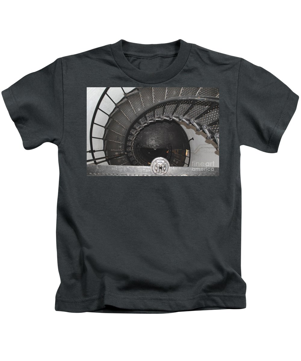Lighthouse Kids T-Shirt featuring the photograph The Lighthouse Stairs by Jost Houk