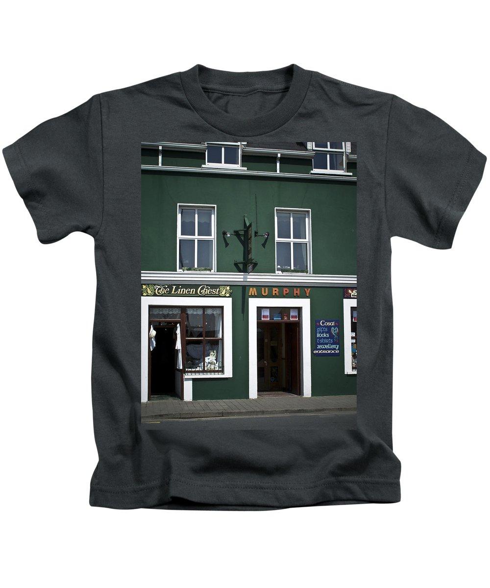 Irish Kids T-Shirt featuring the photograph The Linen Chest Dingle Ireland by Teresa Mucha