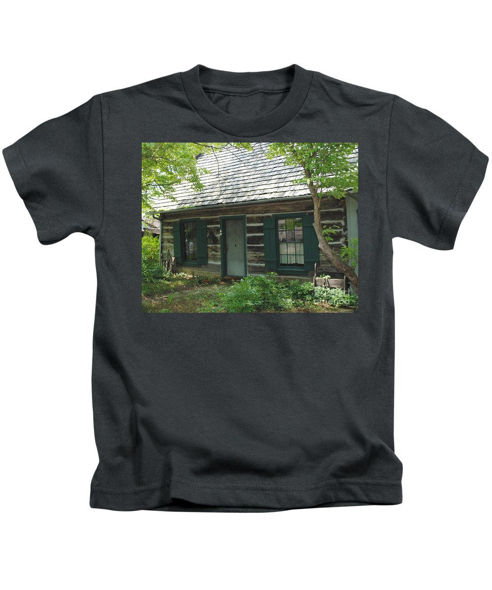 Log Cabin Kids T-Shirt featuring the photograph The Log Cabin by Jost Houk