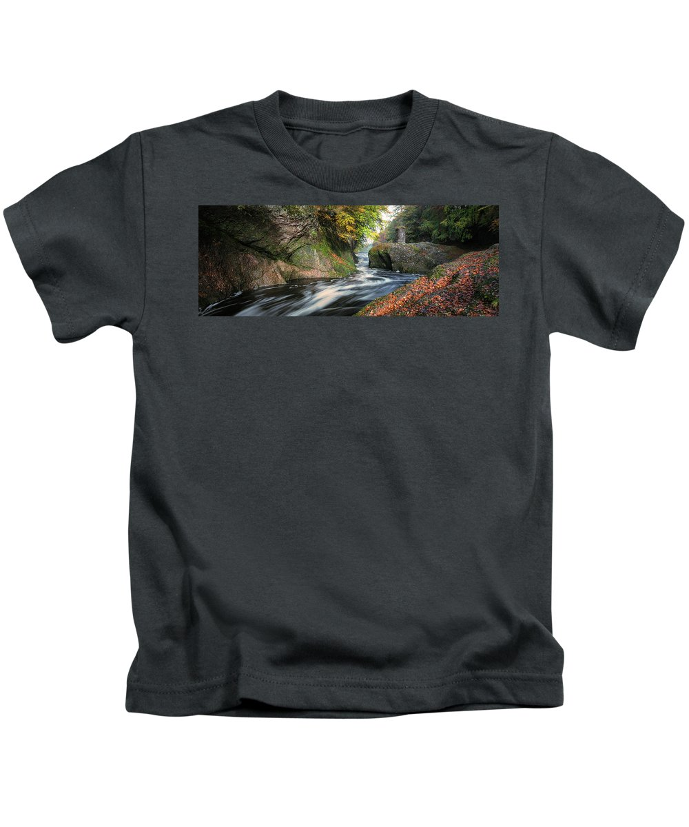 The Loups Kids T-Shirt featuring the photograph The Loups by Dave Bowman