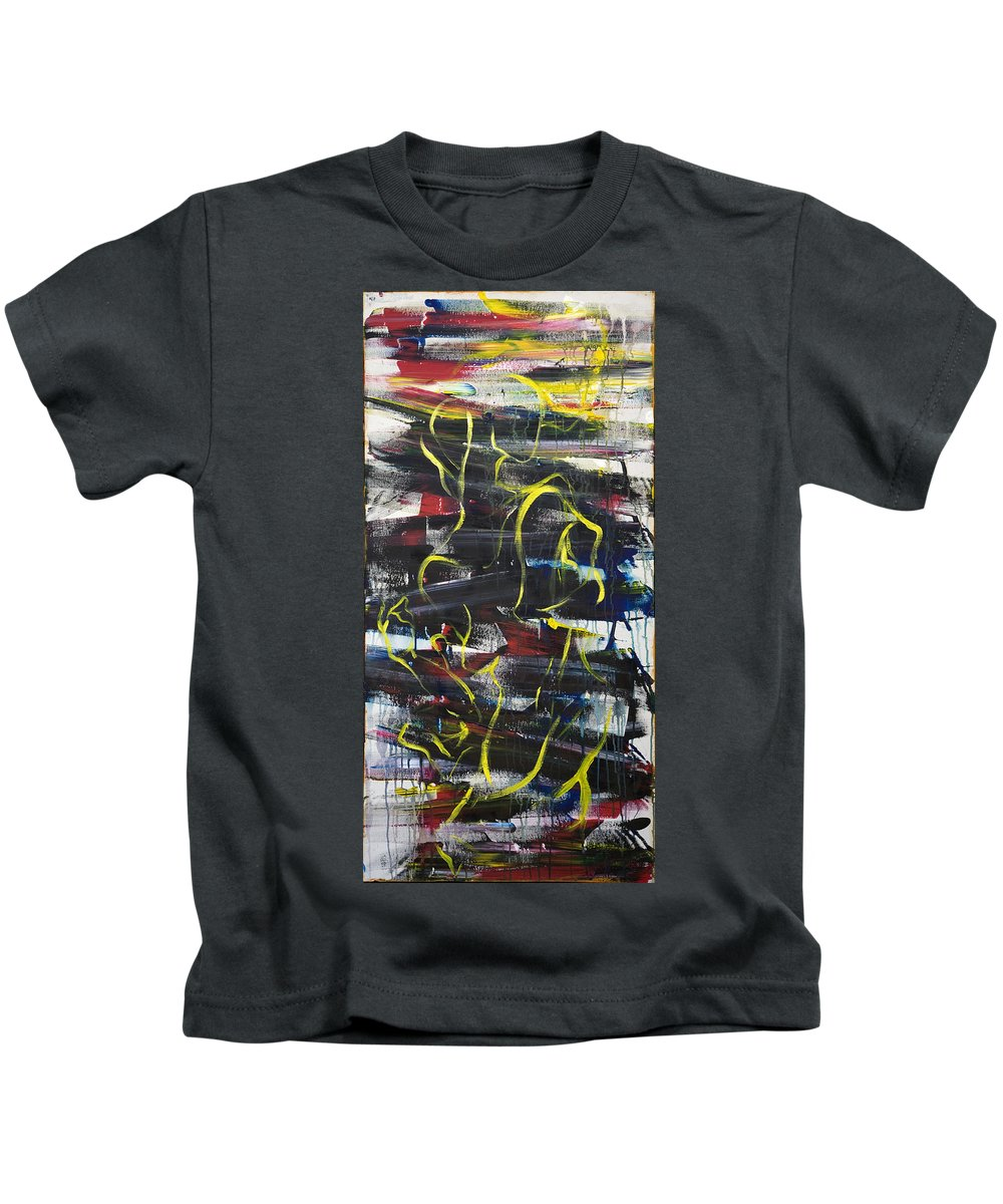 Black Kids T-Shirt featuring the painting The Noose by Sheridan Furrer