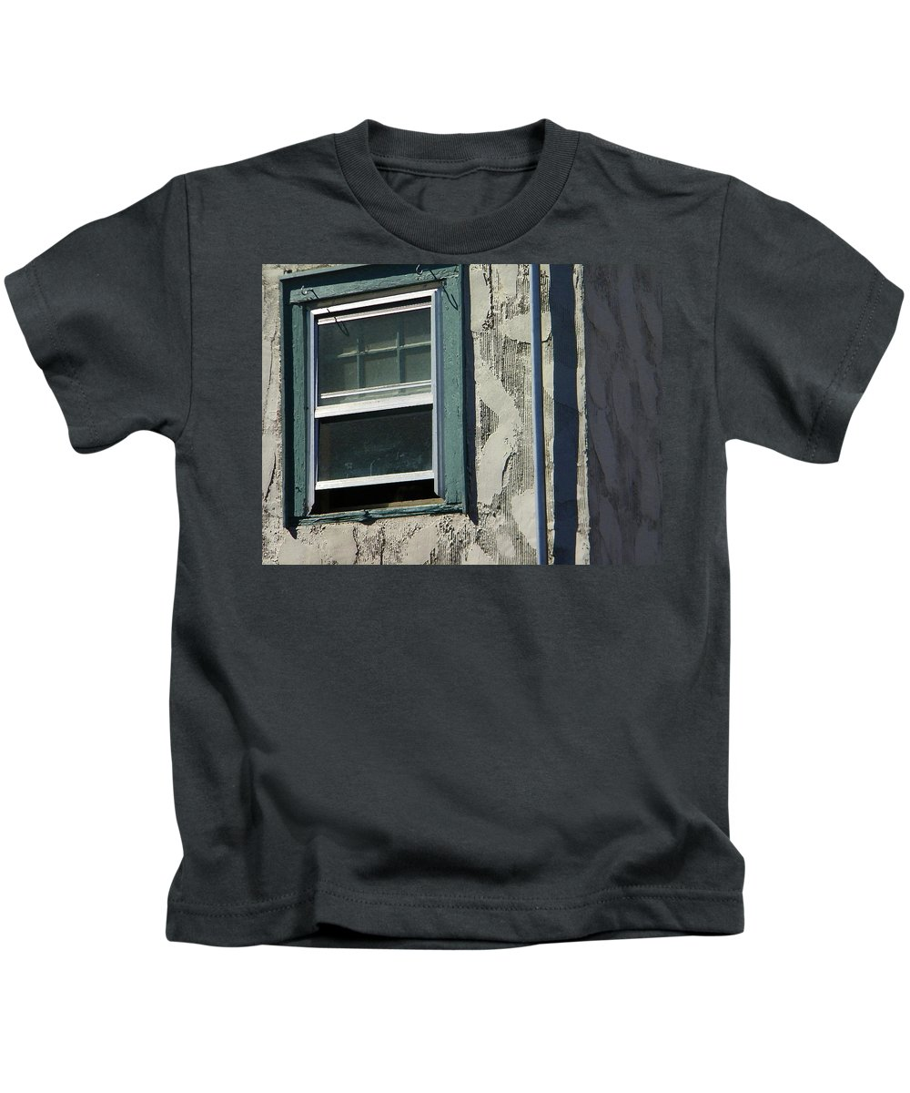 Abstract Kids T-Shirt featuring the photograph The Open Window by Lenore Senior
