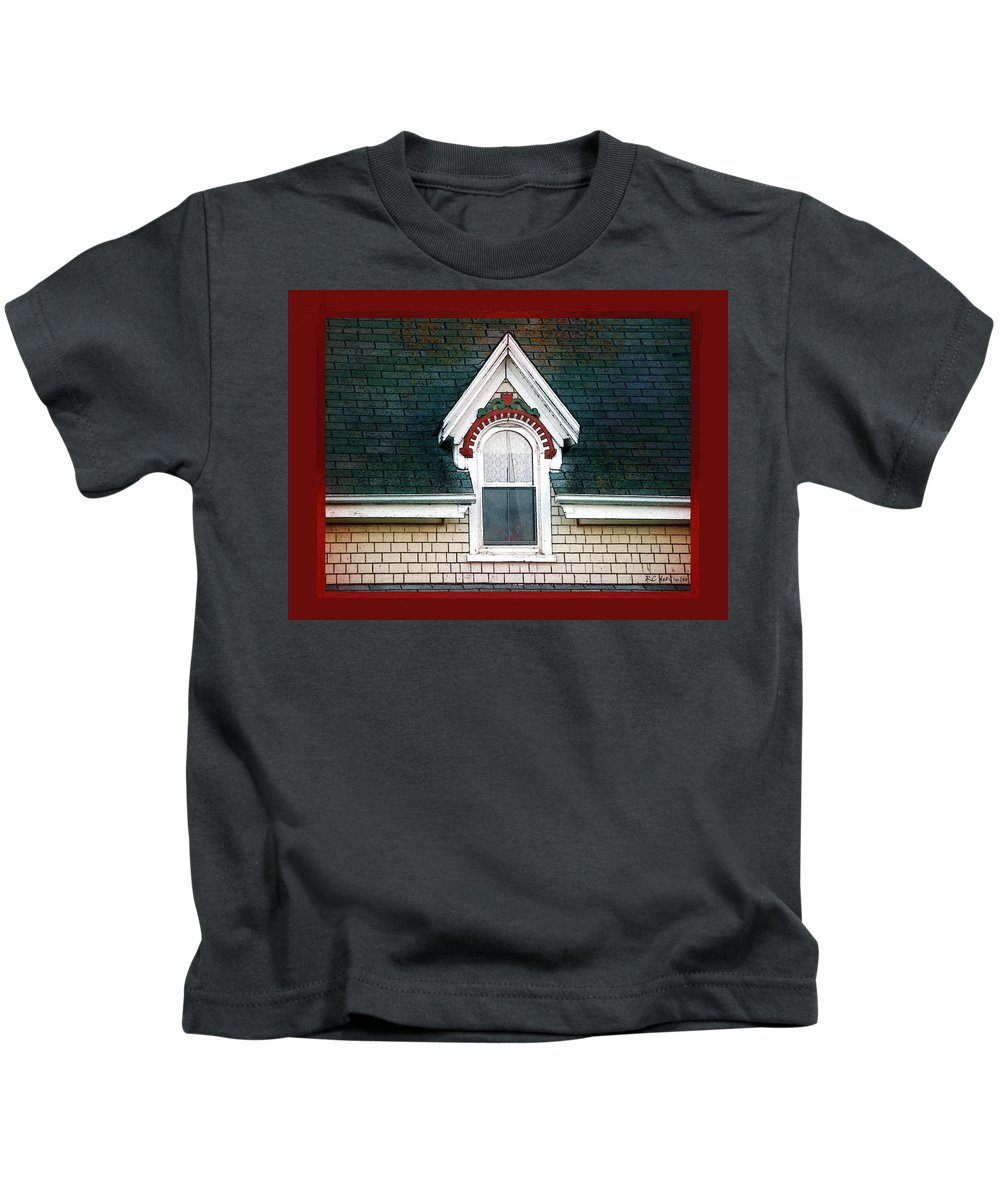 Canada Kids T-Shirt featuring the painting The Ornamented Gable by RC DeWinter