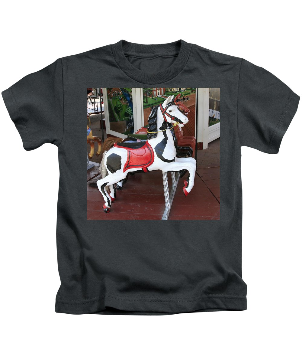 Horse Kids T-Shirt featuring the photograph The Painted Horse by Robert Pearson