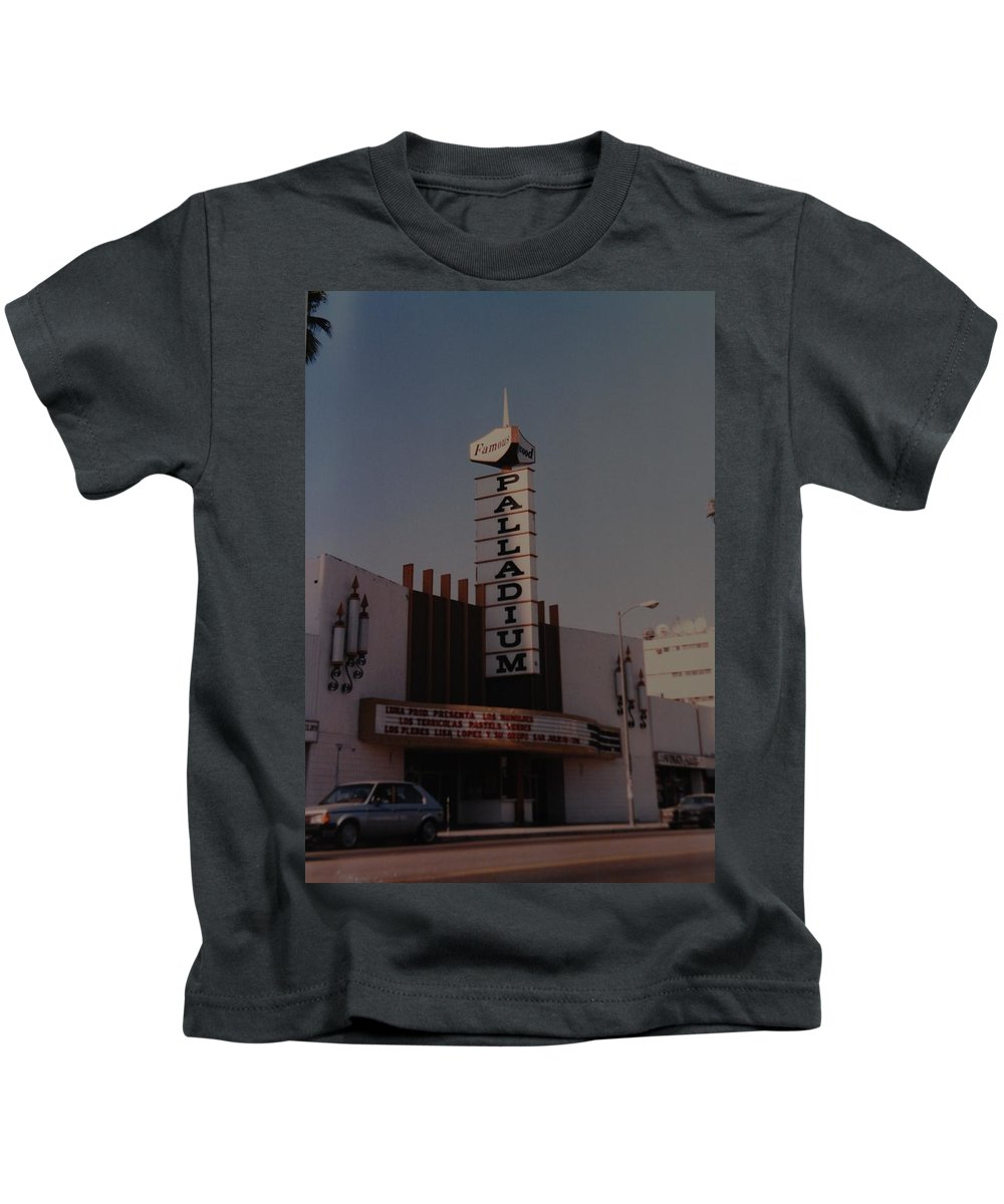 The Palladium Kids T-Shirt featuring the photograph The Palladium by Rob Hans
