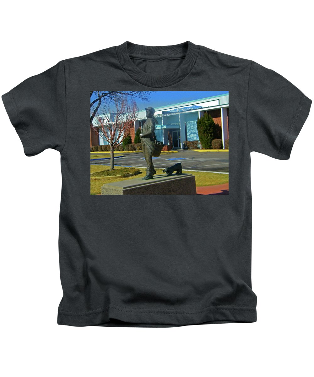 Abstract Kids T-Shirt featuring the photograph The Pueblo Chieftain by Lenore Senior