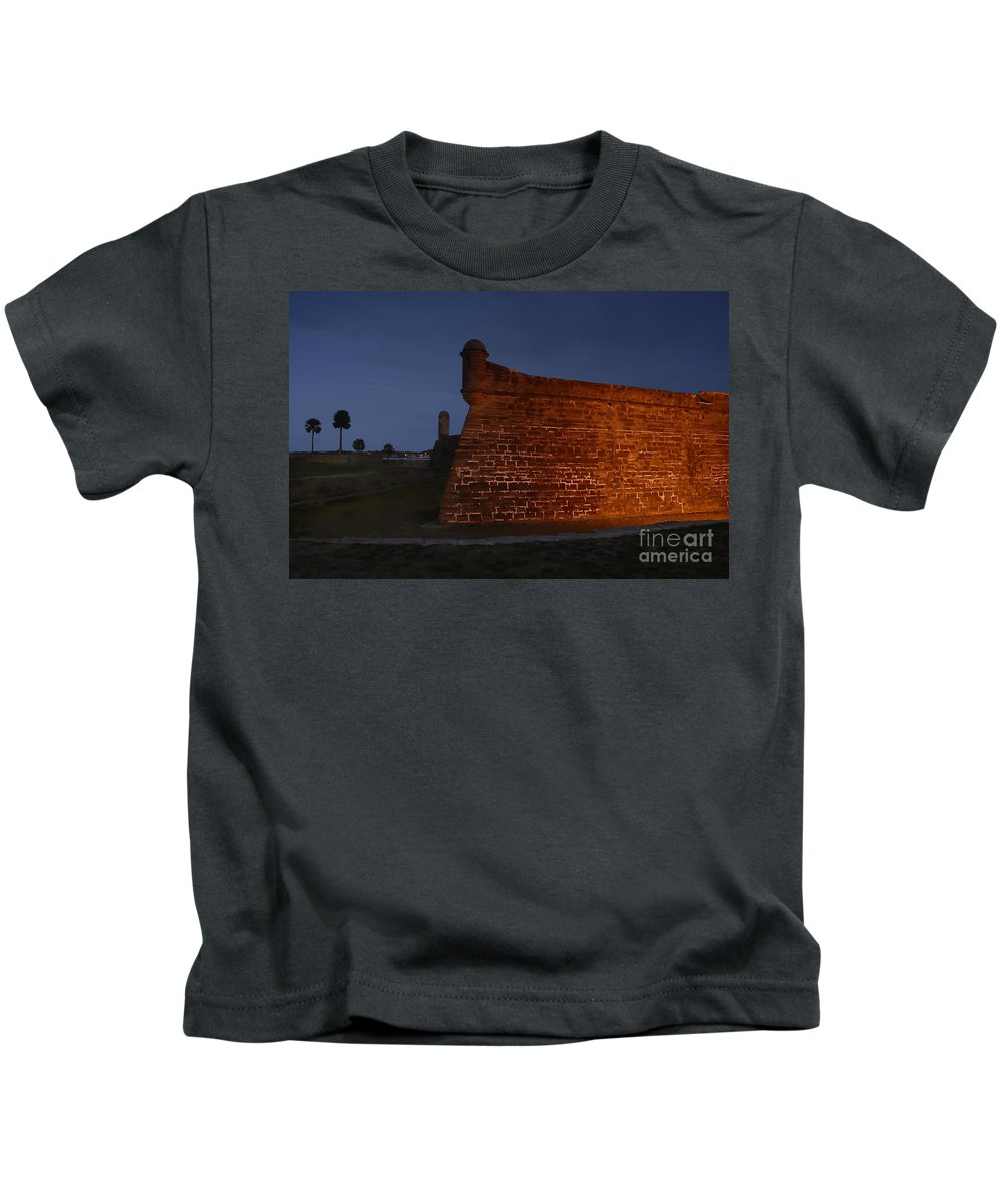 Castillo Kids T-Shirt featuring the photograph The Red Castillo by David Lee Thompson