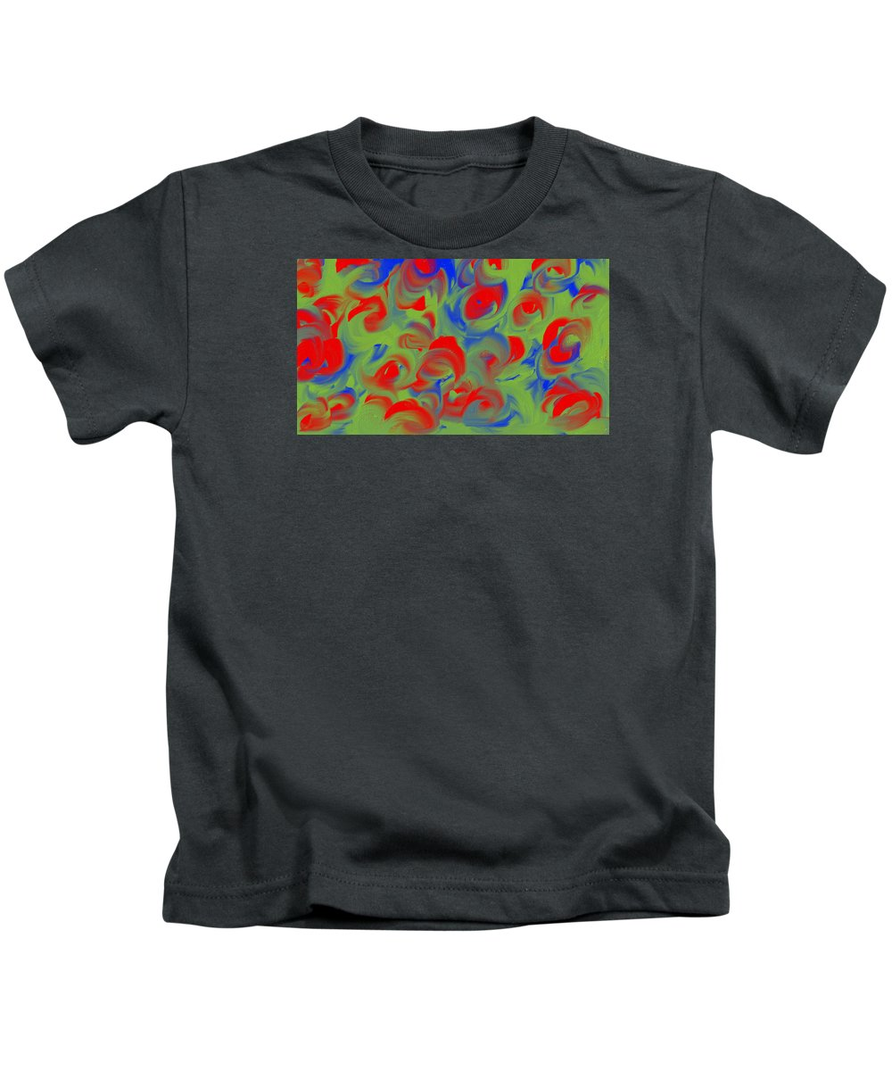 Kids T-Shirt featuring the digital art The Right Love by Katey Love