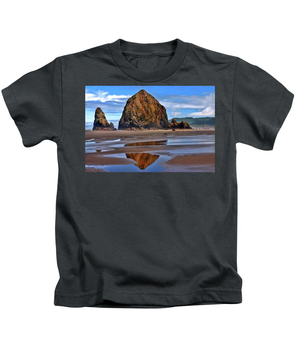 Oregon Kids T-Shirt featuring the photograph The Rock by Scott Mahon