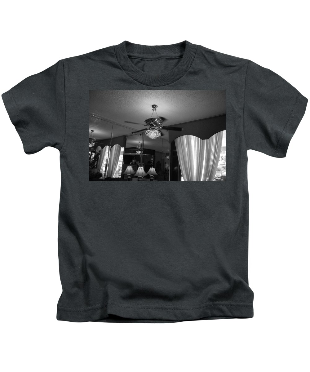 Black And White Kids T-Shirt featuring the photograph The Room With Many Views by Rob Hans