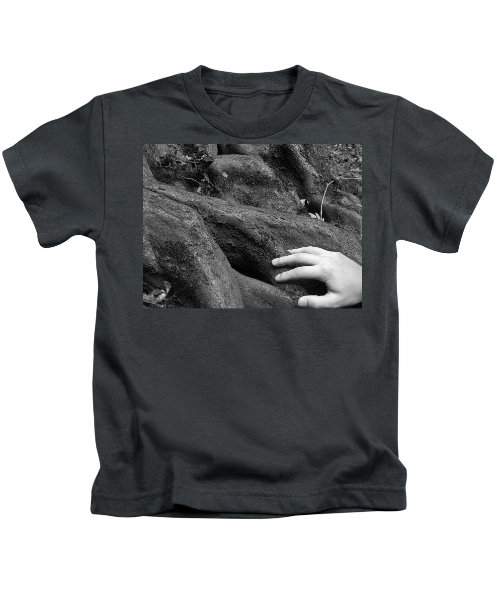 Nature Kids T-Shirt featuring the photograph The Roots by Daniel Csoka