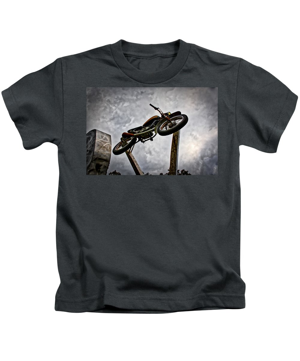 Motorcycle Kids T-Shirt featuring the photograph Rust by Daniel Gundlach