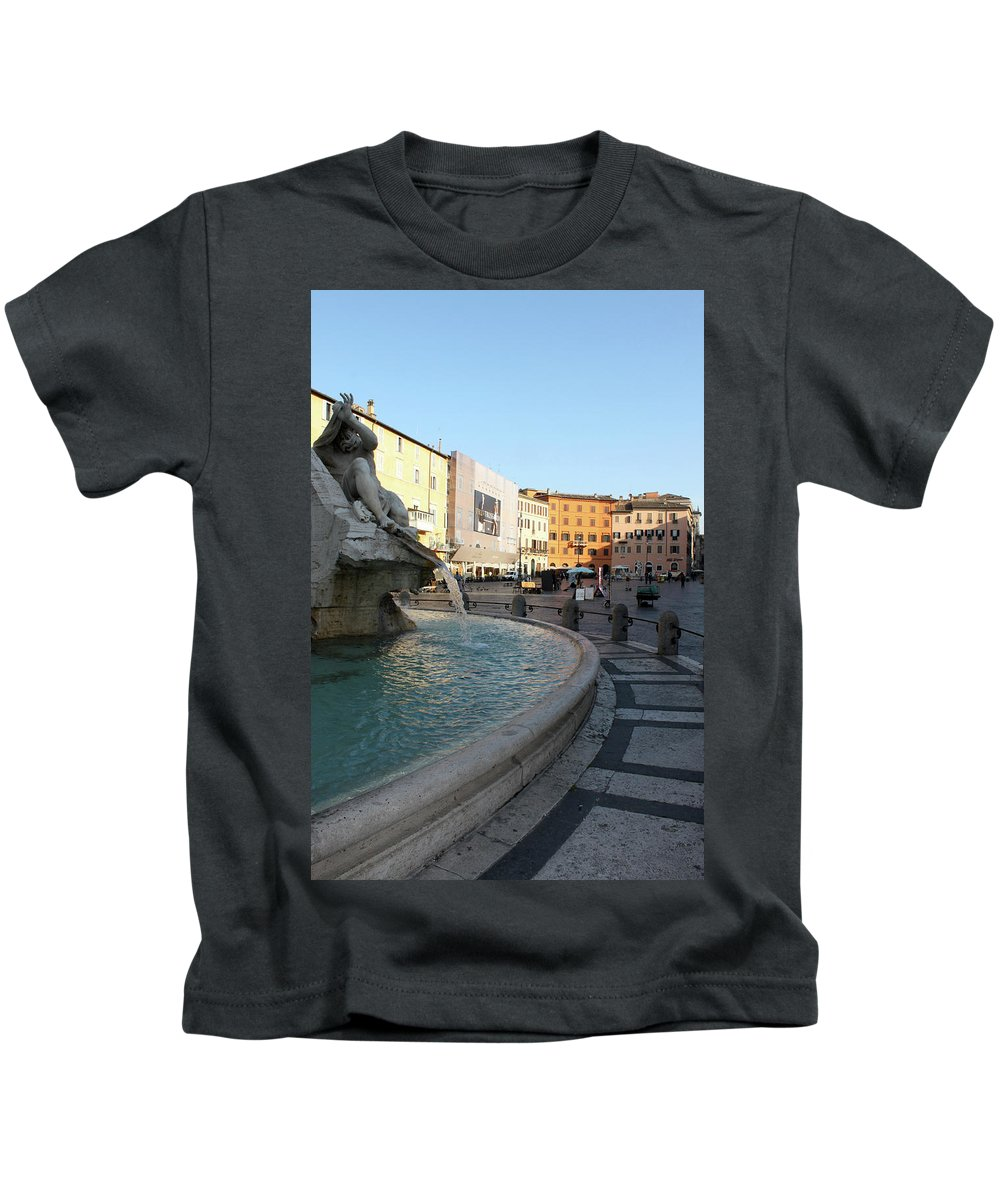 Piazza Navona Kids T-Shirt featuring the photograph The Shame by Munir Alawi