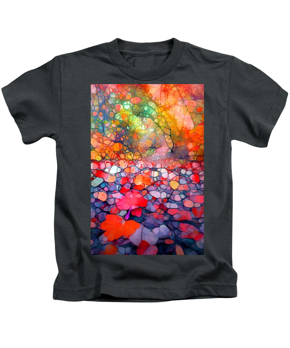 Tree Kids T-Shirt featuring the photograph The Simple Dreams Of Fallen Leaves by Tara Turner