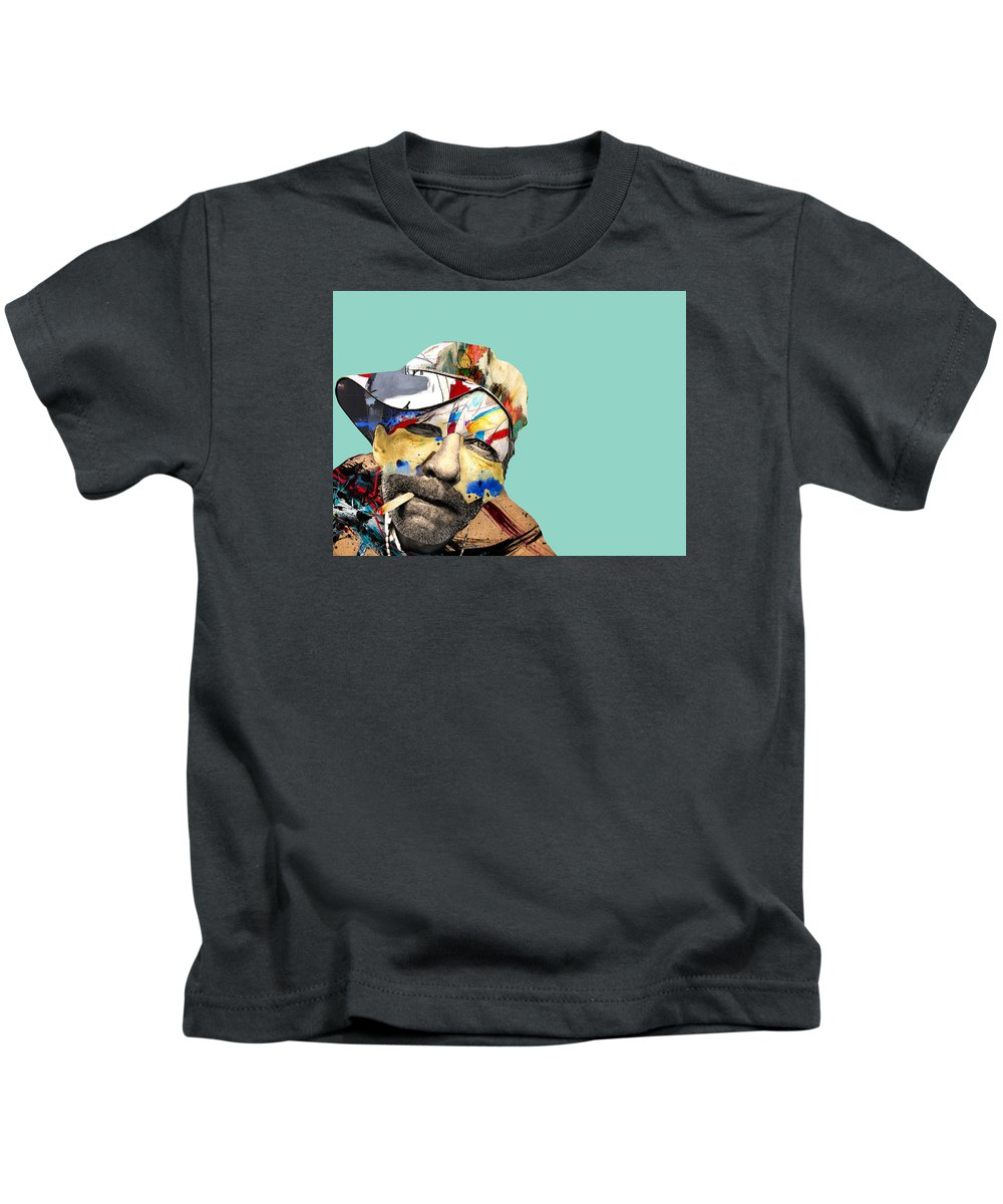 Pop Art Kids T-Shirt featuring the photograph The Street Artist by Dominic Piperata