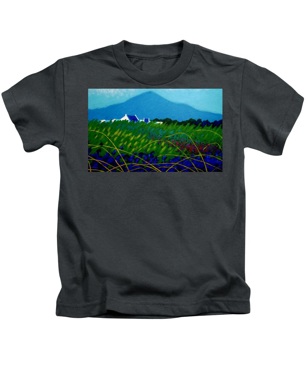 Irish Landscape Kids T-Shirt featuring the painting The Sugar Loaf County Wicklow Ireland by John Nolan