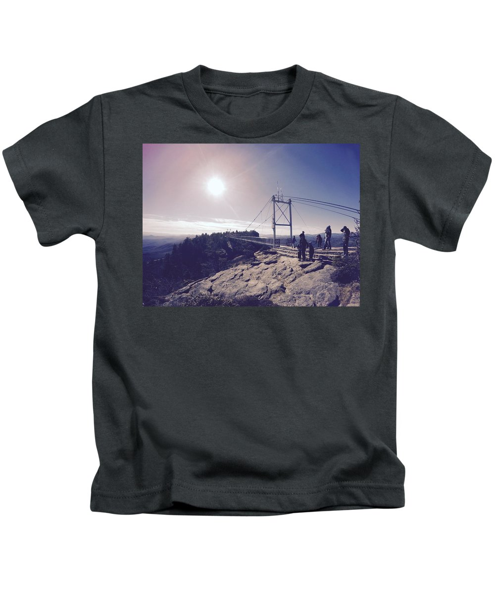 Summit Kids T-Shirt featuring the photograph The Summit by Blake Childs