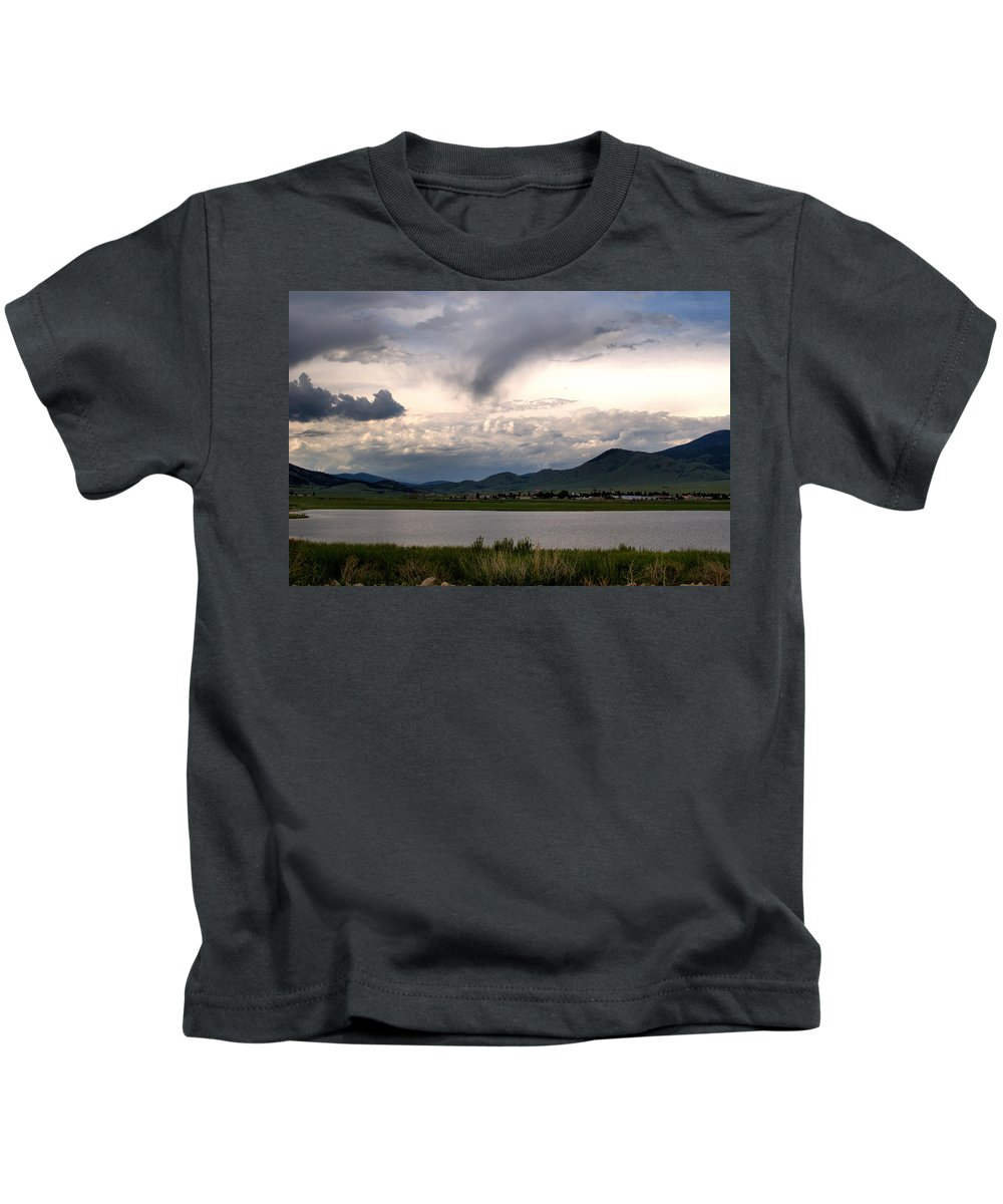 New Mexico Kids T-Shirt featuring the photograph The Town Of Eagle Nest by Chris Giese