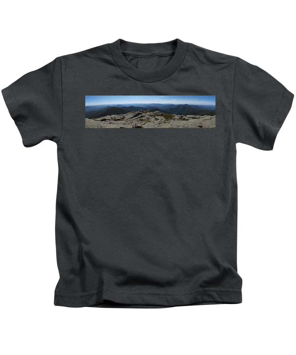 Adirondacks Kids T-Shirt featuring the photograph The View North From Mt. Marcy by Joshua House
