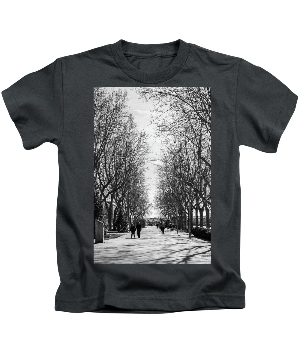 Walk Kids T-Shirt featuring the photograph The Walk by Alicia Fdez