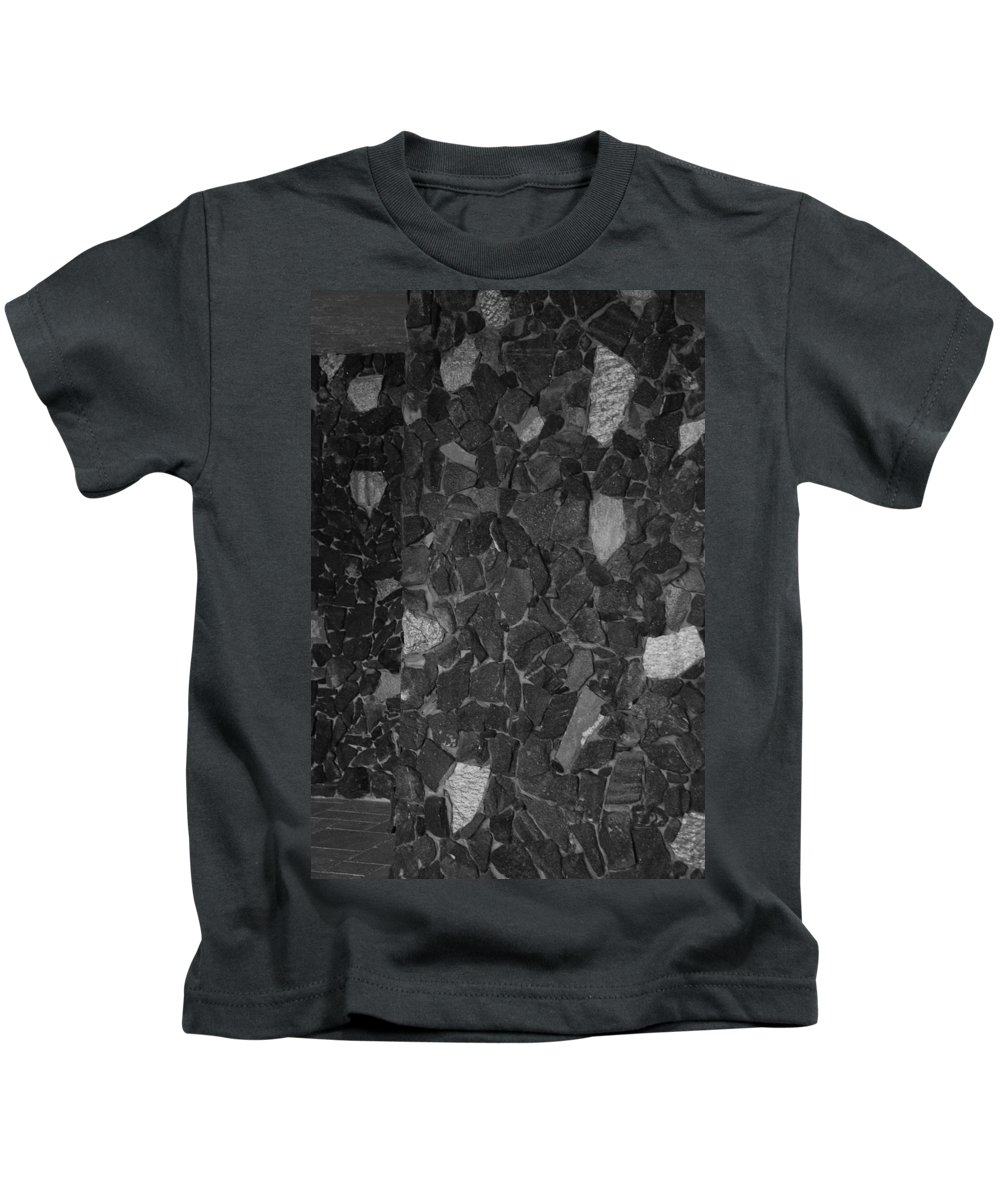 Black And White Kids T-Shirt featuring the photograph The Wall by Rob Hans