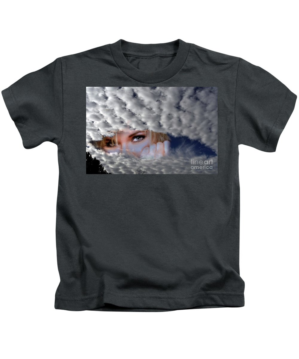 Clay Kids T-Shirt featuring the photograph The Watcher Above by Clayton Bruster