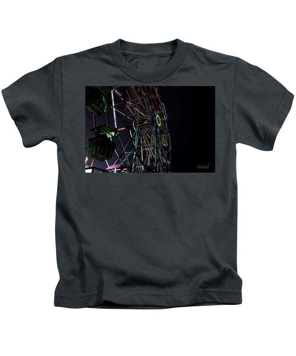 Magical Lights Kids T-Shirt featuring the photograph The Wheel by Ronald Nuval
