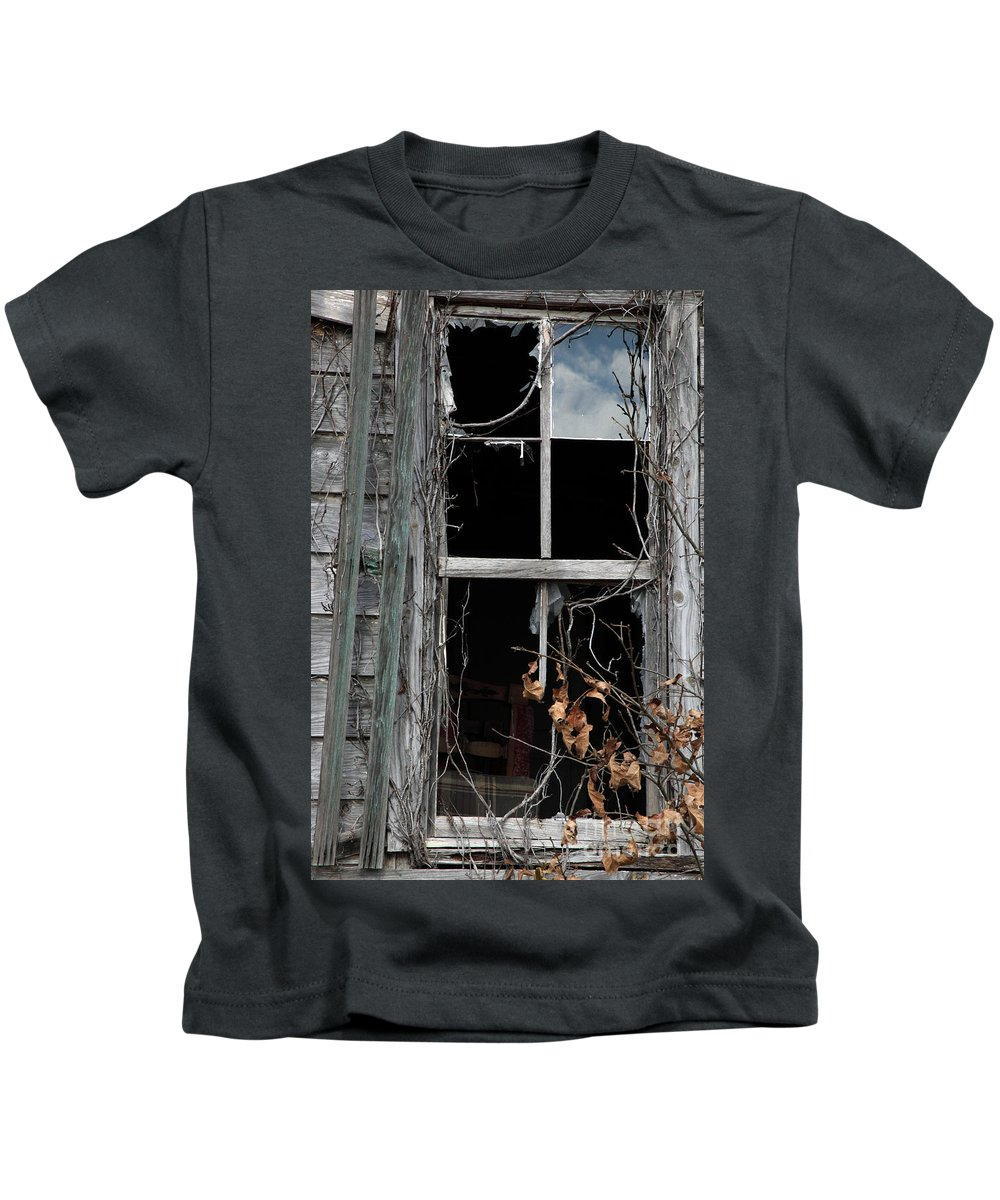 Windows Kids T-Shirt featuring the photograph The Window by Amanda Barcon
