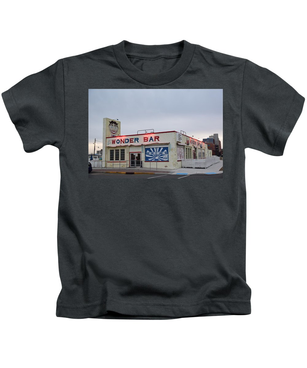 Wonder Bar Kids T-Shirt featuring the photograph The Wonder Bar, Asbury Park by Bob Cuthbert