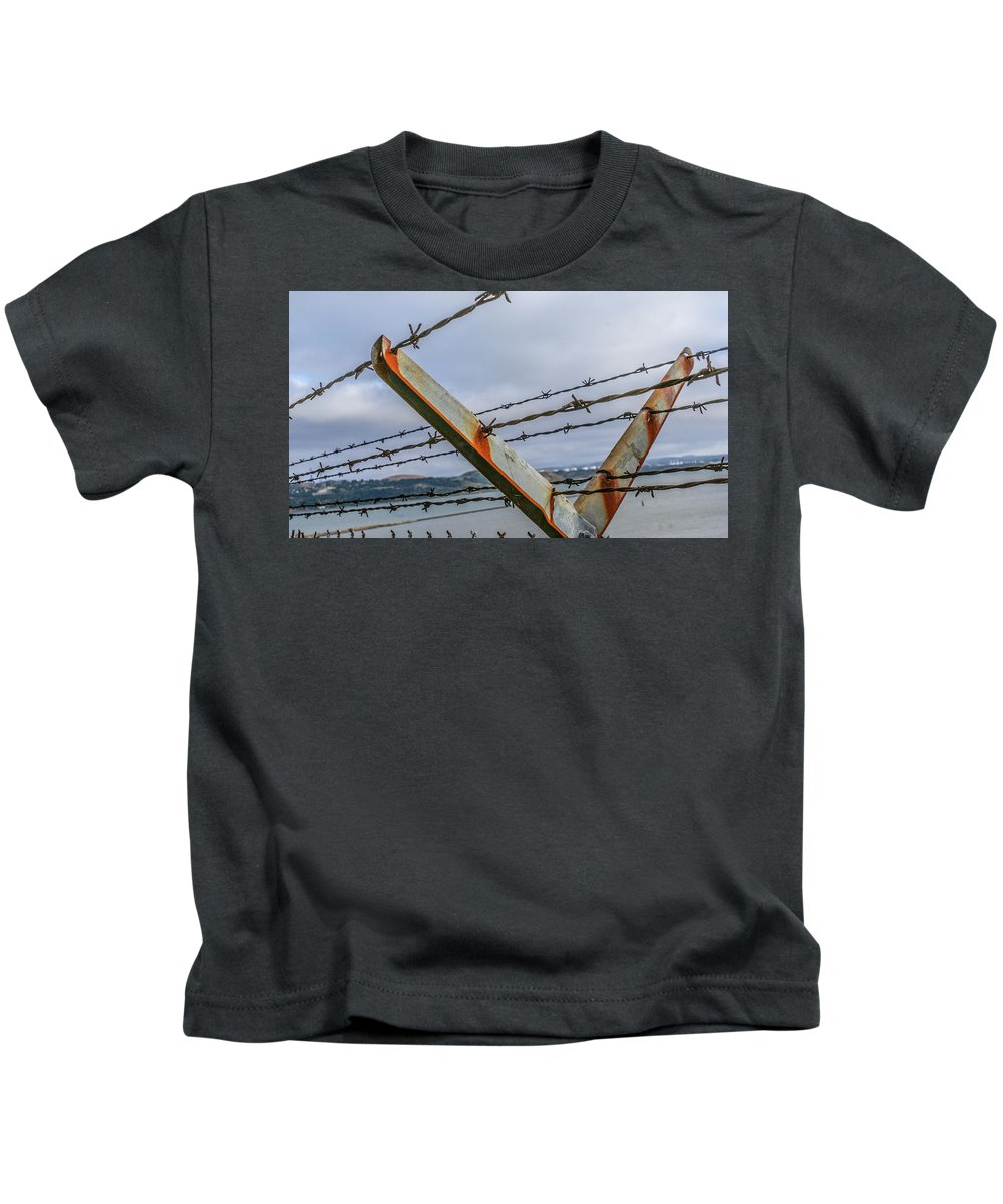Vallejo Kids T-Shirt featuring the photograph This Side Of The Fence by Kristofer M Johnson