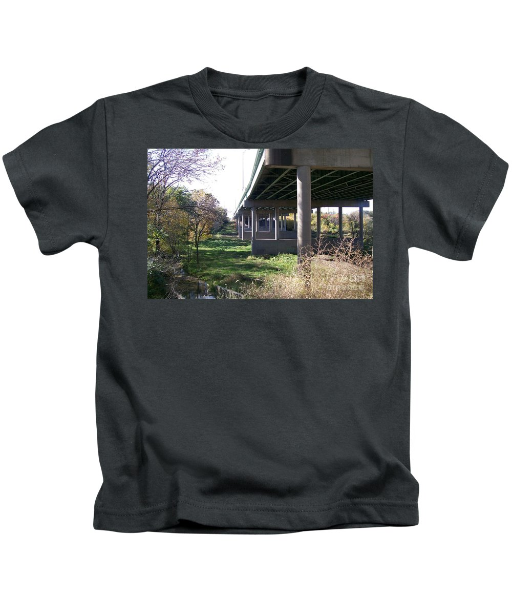 Landscape Kids T-Shirt featuring the photograph Three Pathways by Stephen King