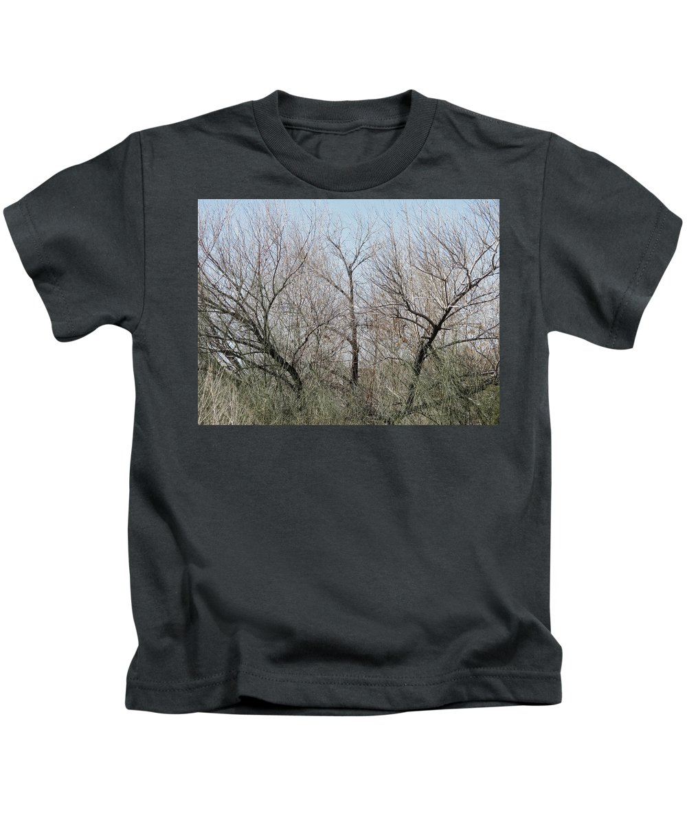 Bare Kids T-Shirt featuring the photograph Three Trees by Laurel Powell