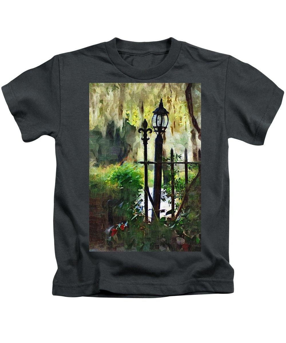 Gate Kids T-Shirt featuring the digital art Thru The Gate by Donna Bentley