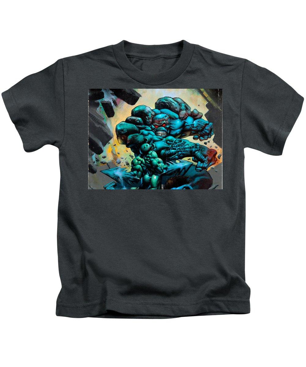 Thump'n Guts Kids T-Shirt featuring the digital art Thump'n Guts by Dorothy Binder