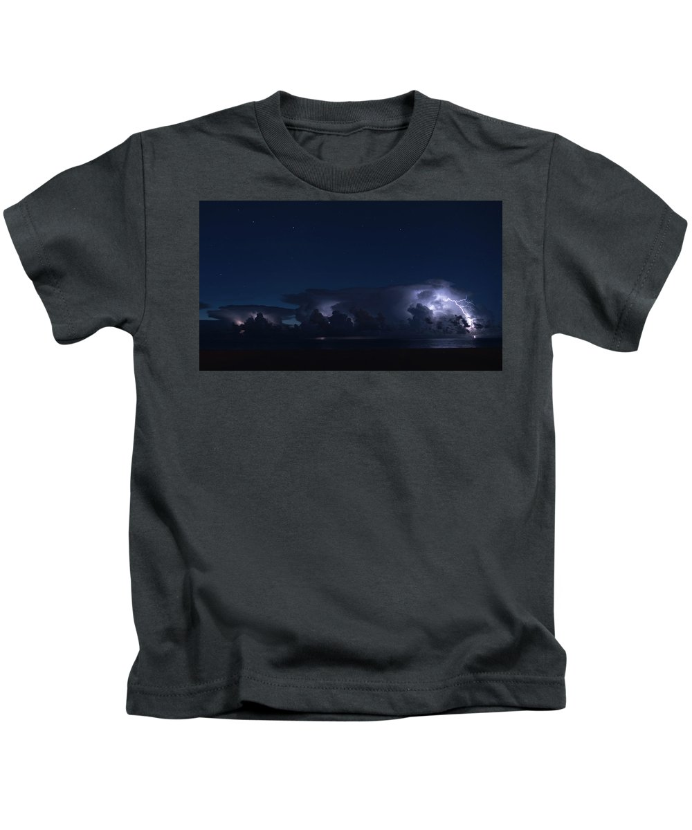 Florida Kids T-Shirt featuring the photograph Thunderstorms And Stars Delray Beach Florida by Lawrence S Richardson Jr