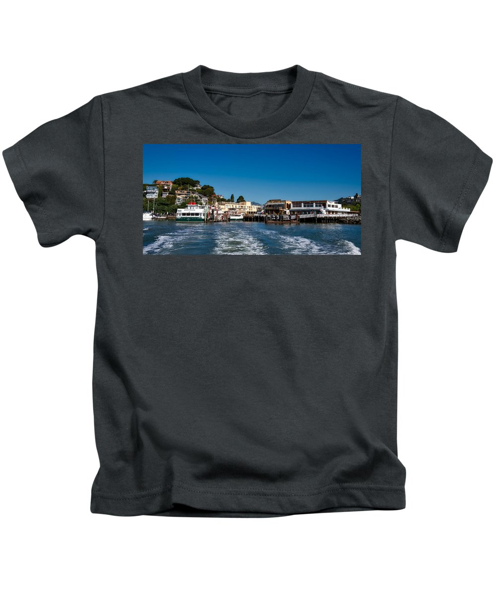 Tiburon Kids T-Shirt featuring the photograph Tiburon Waterfront by Mountain Dreams