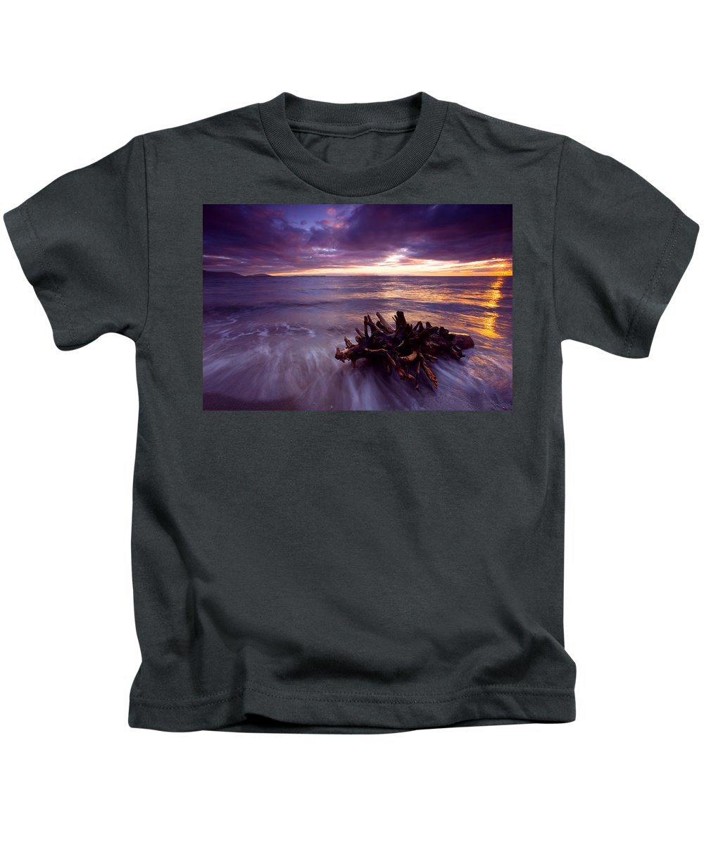 Sunset Kids T-Shirt featuring the photograph Tide Driven by Mike Dawson