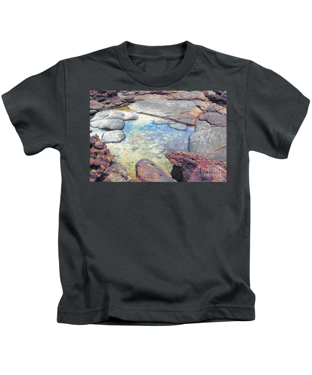 Mouth Of Margaret River Beach Kids T-Shirt featuring the photograph Tide Pool by Cassandra Buckley