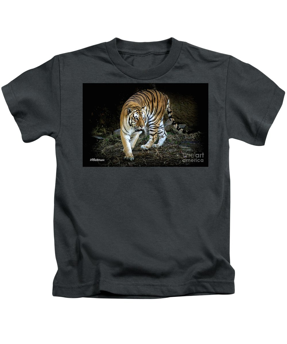 Tiger Kids T-Shirt featuring the photograph Tiger Stripes Memphis Zoo by Veronica Batterson