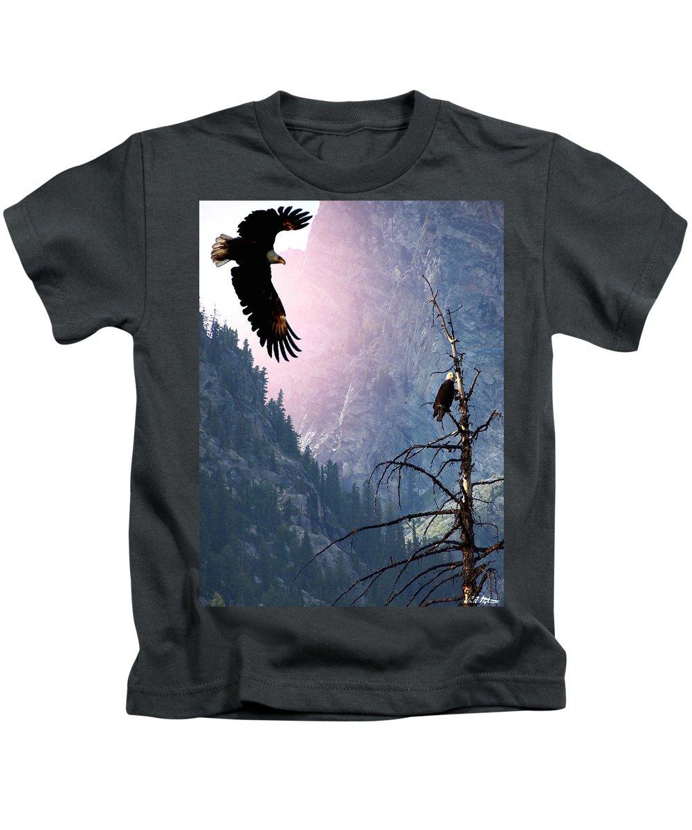 Eagles Kids T-Shirt featuring the digital art Till Death Do Us Part by Bill Stephens