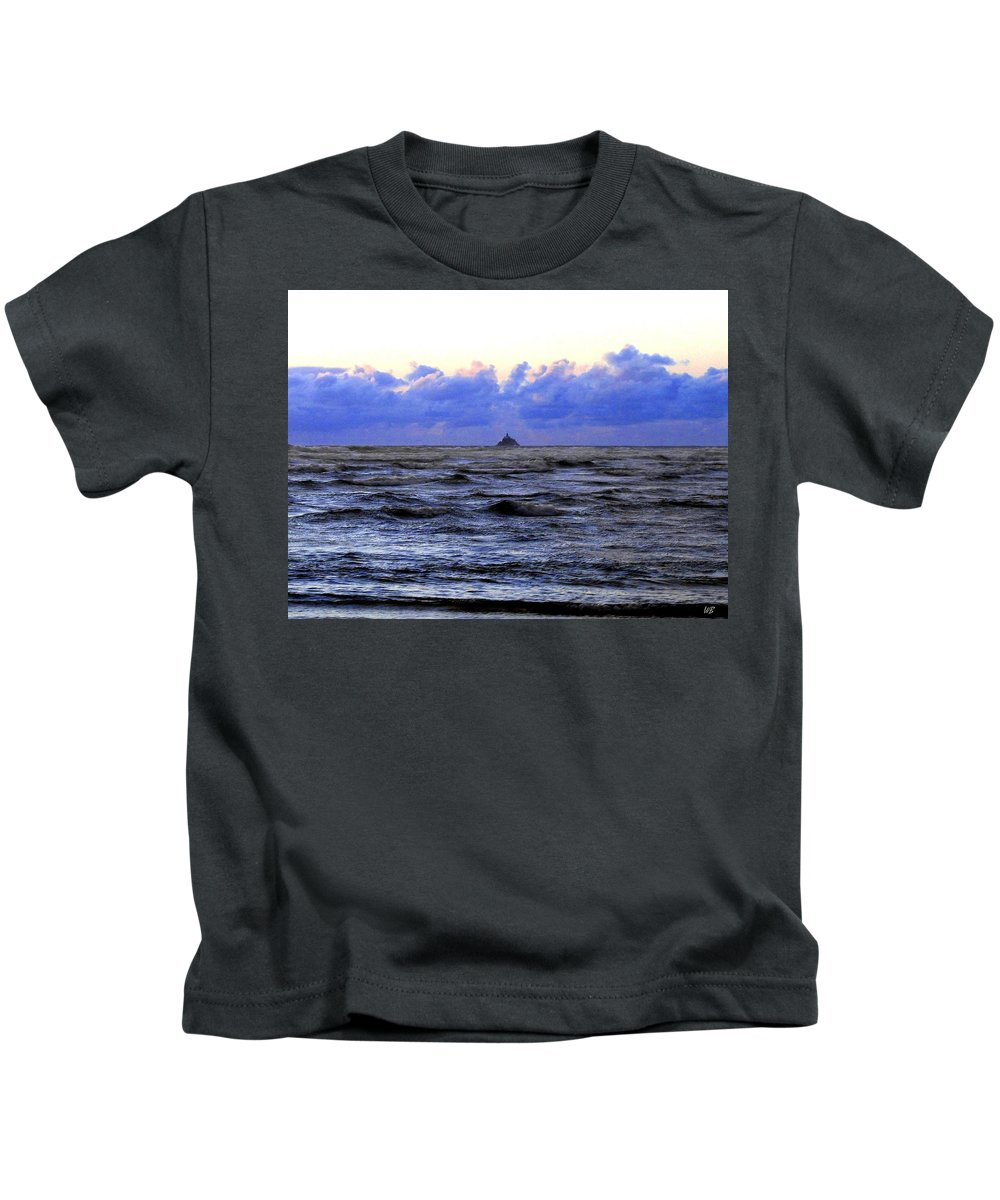 Lighthouse Kids T-Shirt featuring the photograph Tillamook Rock Lighthouse by Will Borden