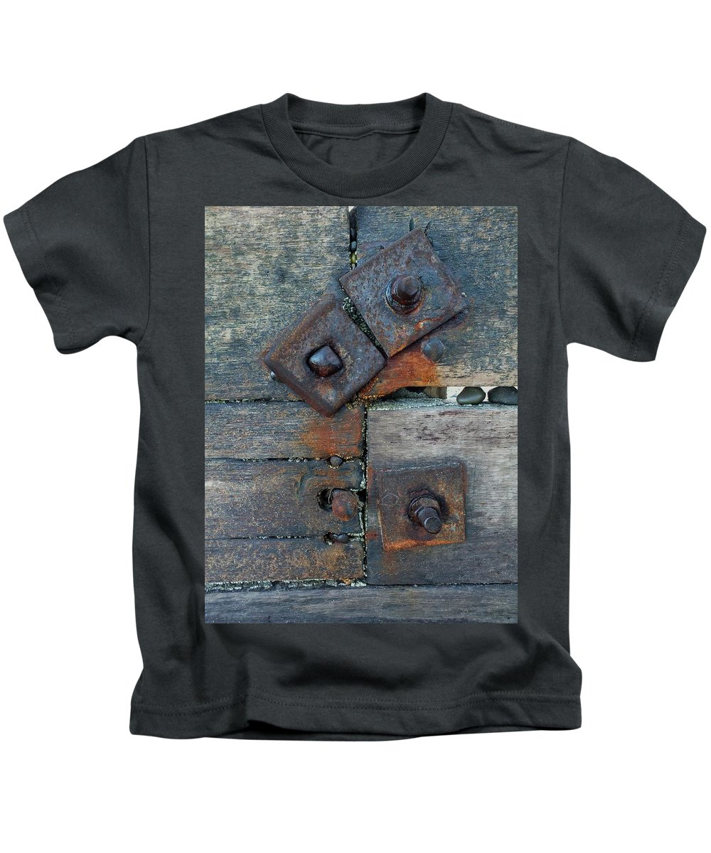 Weathered Kids T-Shirt featuring the photograph Time On The Beach 3 by Emma Manners