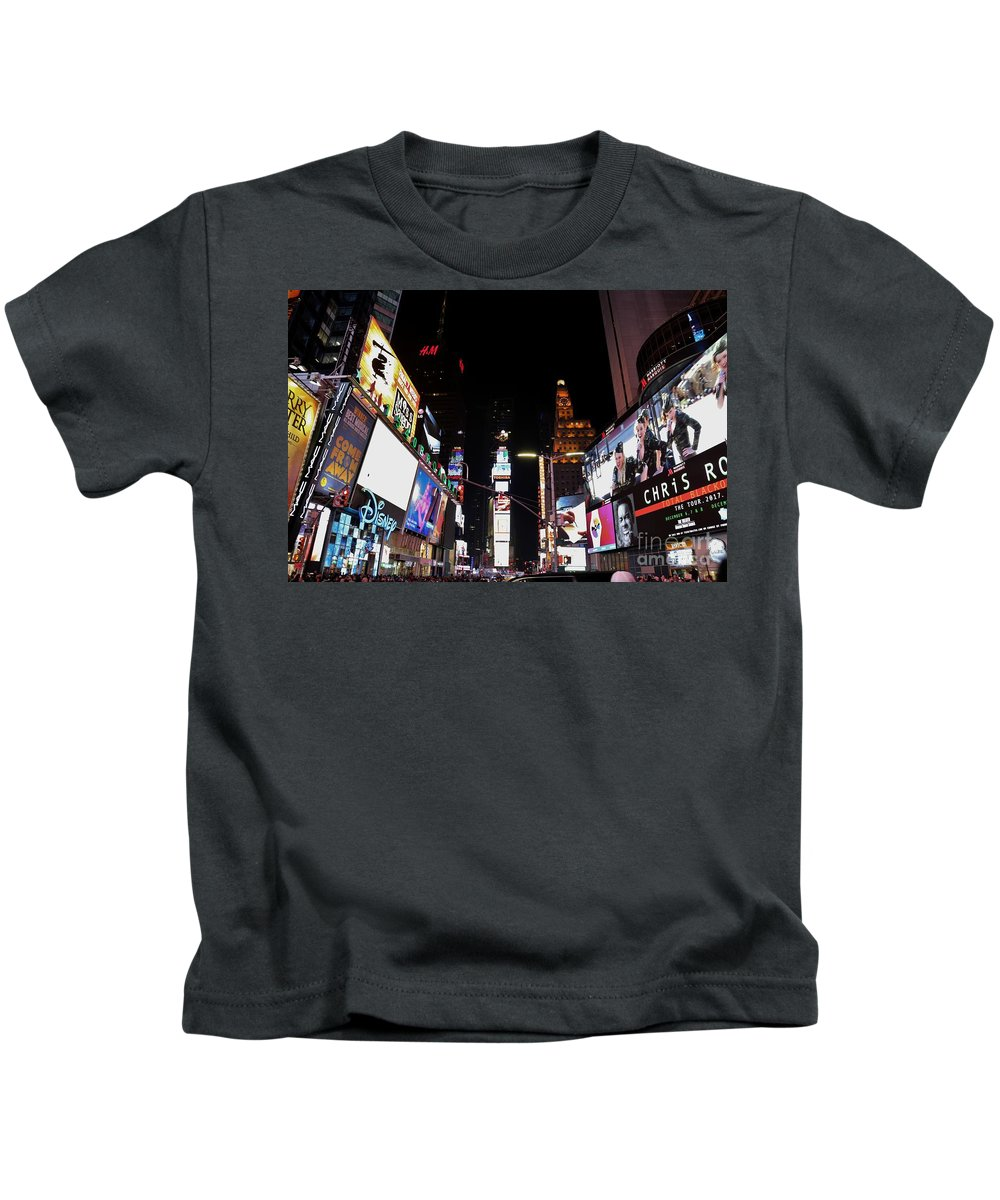 Destination Kids T-Shirt featuring the photograph Times Square New York City New Years Eve by Douglas Sacha