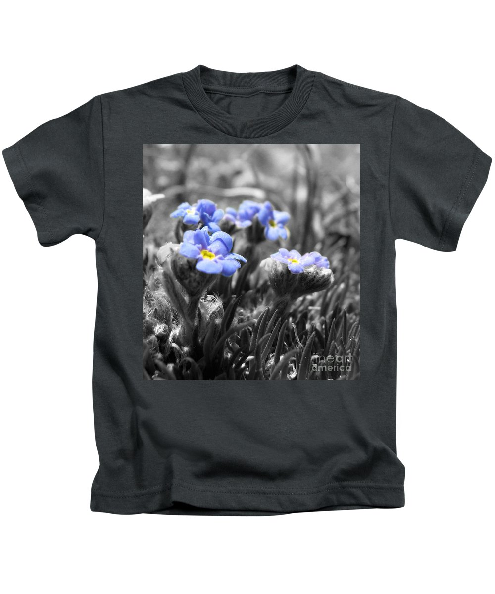 Flowers Kids T-Shirt featuring the photograph Tiny Gems by Amanda Barcon