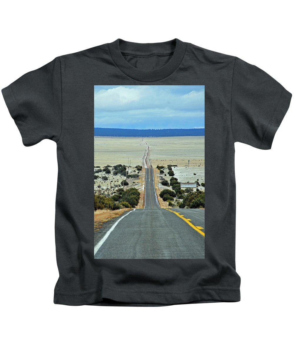 Road Kids T-Shirt featuring the photograph To Eternity by David Arment