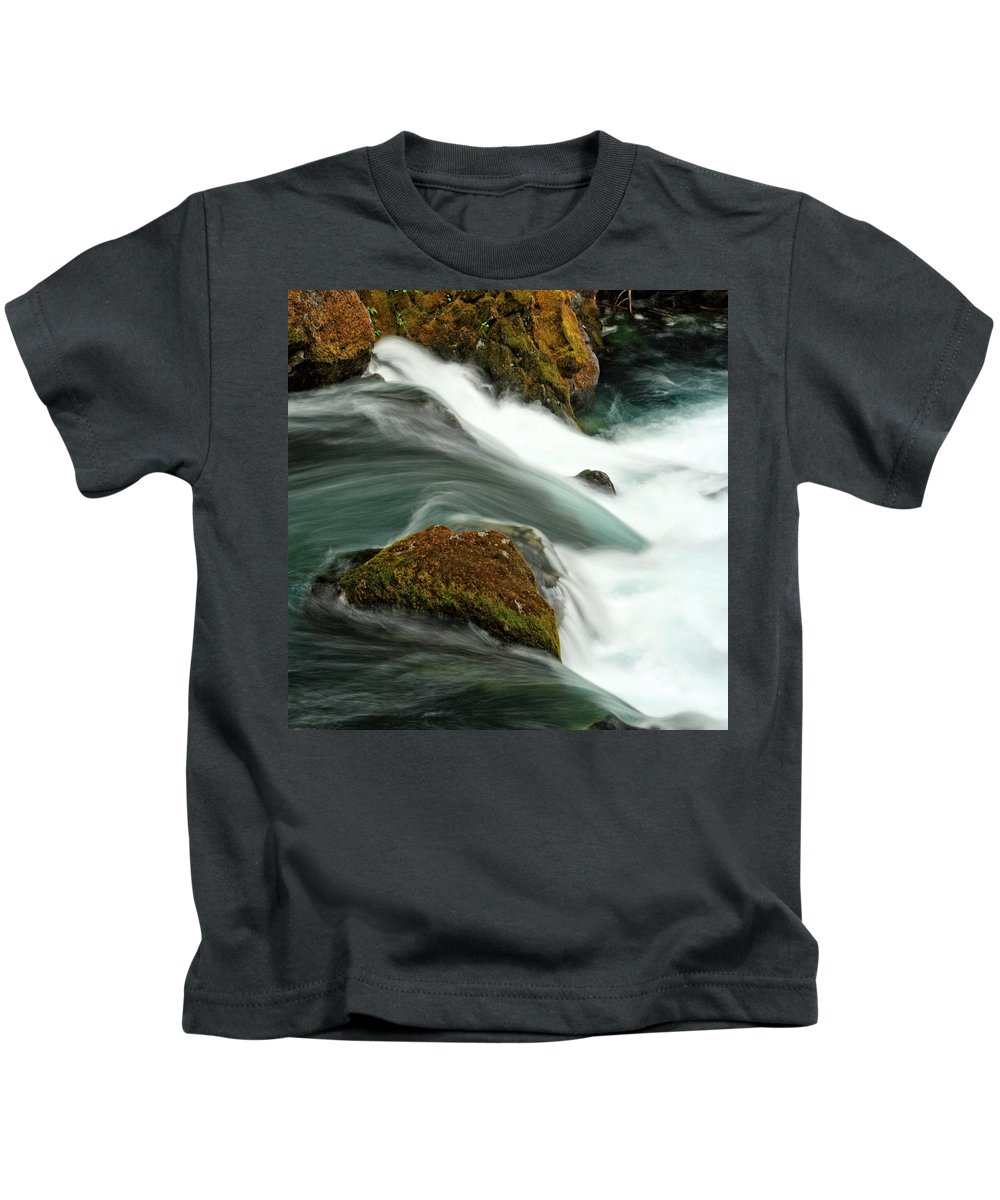Columbia Gorge Kids T-Shirt featuring the photograph Toketee Falls 5 by Ingrid Smith-Johnsen