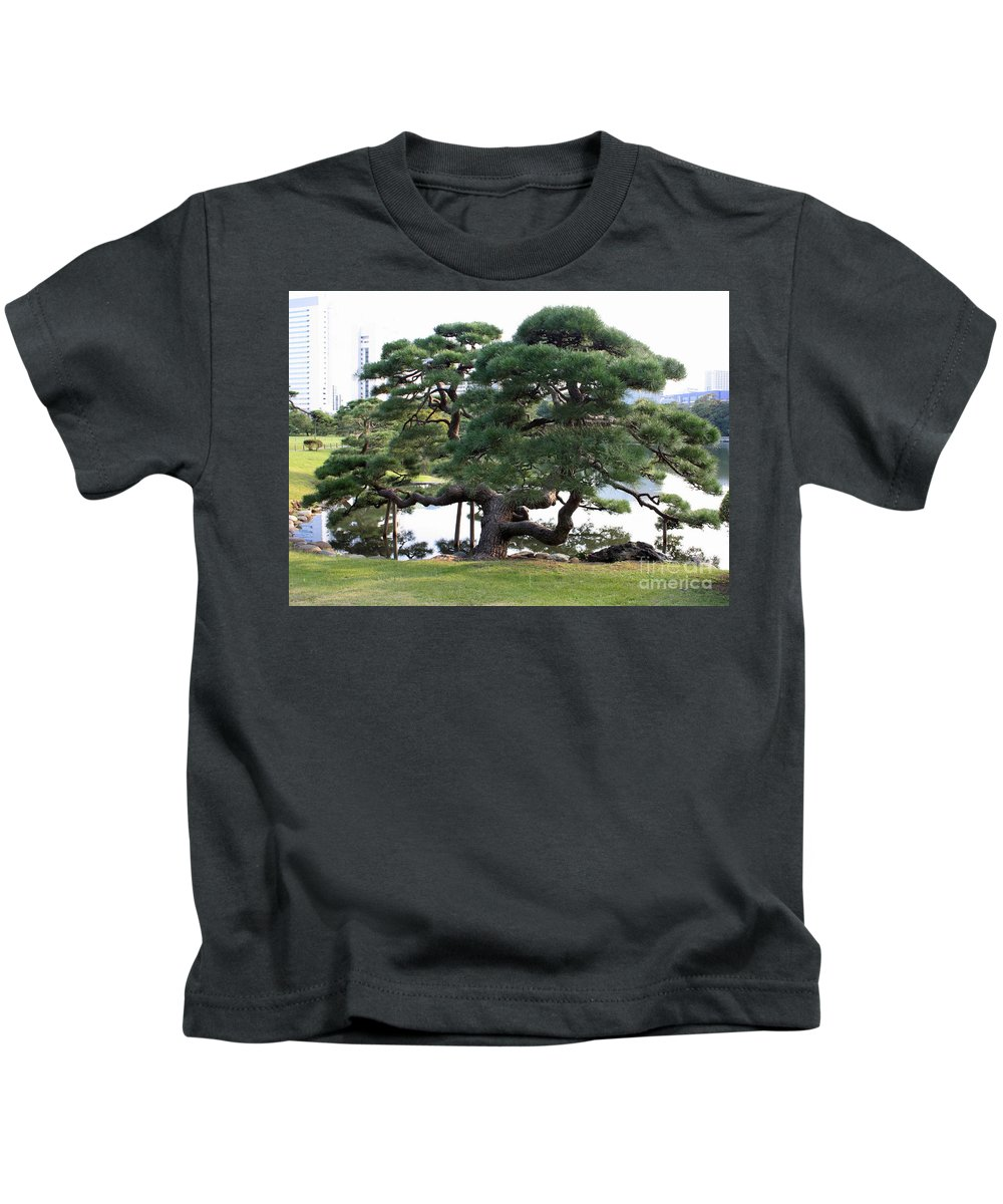 Tokyo Tree Kids T-Shirt featuring the photograph Tokyo Tree by Carol Groenen