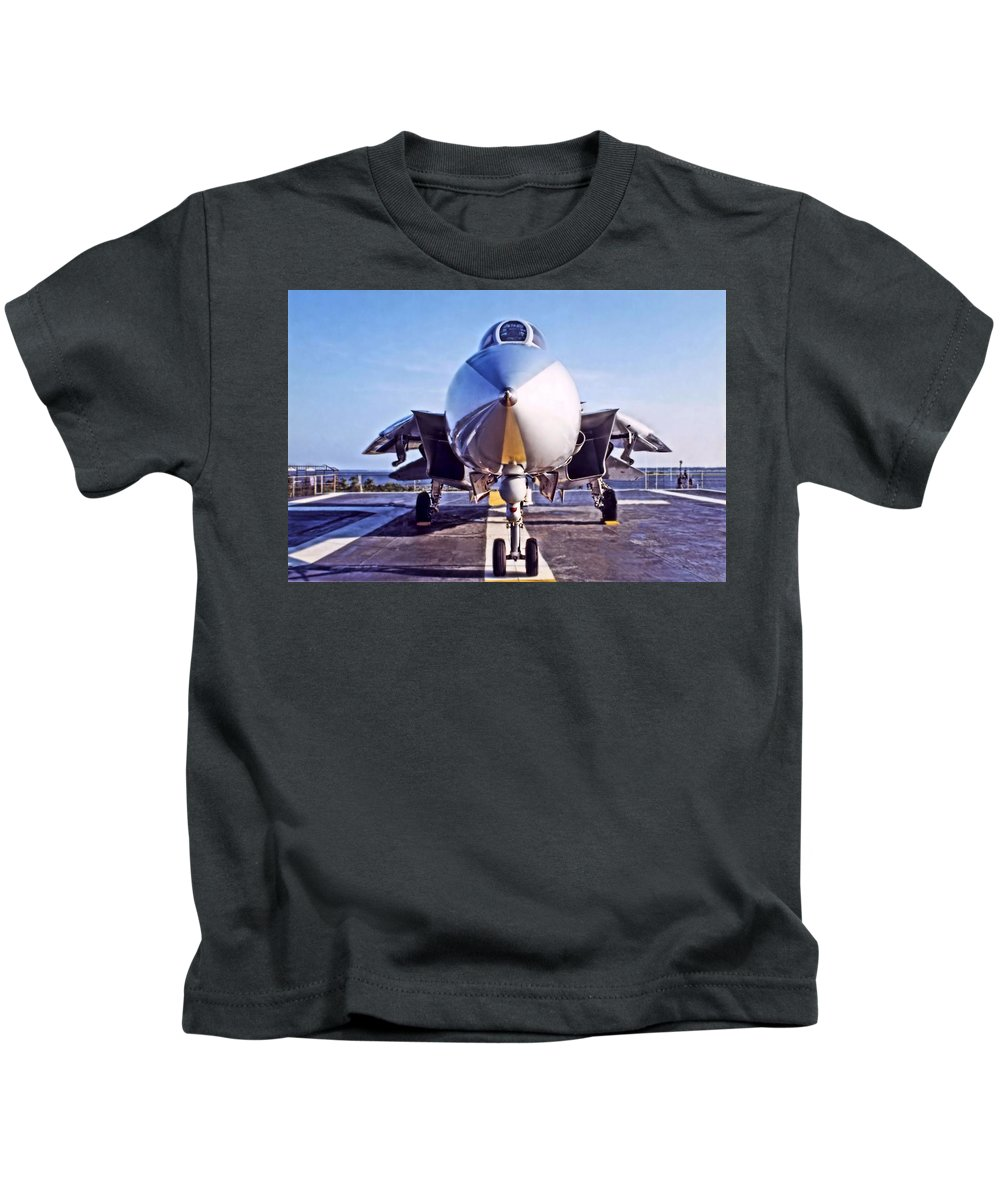 Tomcat Kids T-Shirt featuring the photograph Tomcat by DJ Florek